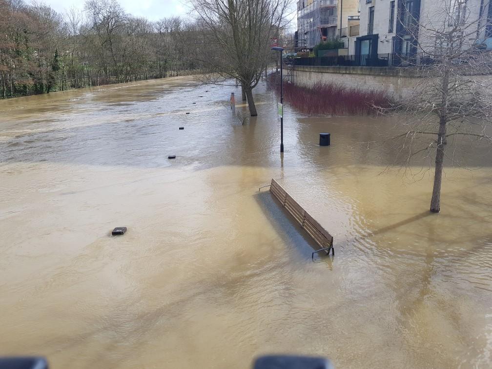 Bath Riverside flood 2020
